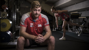 NSW Swifts strength and conditioning coach Lukas Cannan has been a big part of their success.