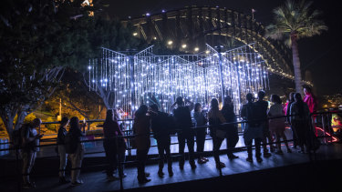 Vivid organisers have not faced complaints about large crowds and pedestrian bottlenecks unlike last year's event.