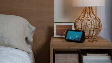 The smaller Echo Show is a good size to act as a bedside alarm clock.