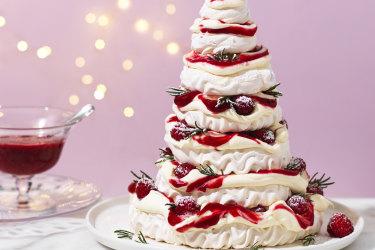 Pavlova Christmas tree by RecipeTin Eats.