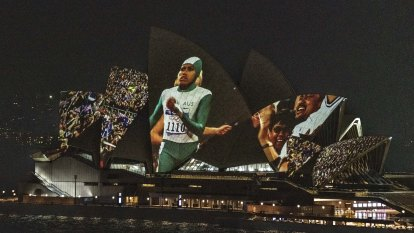 In our DNA: Cathy Freeman's Olympic win projected onto Opera House