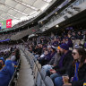 Home comforts, COVID cloud keep Perth footy fans on the couch