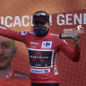 Carapaz wrestles red jersey back from Roglic after brutal Angliru climb