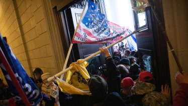 A pro-Trump mob storms the Capitol as Congress prepared to certify Democrat Joe Biden's election victory.
