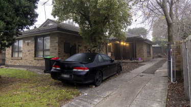 Human remains were found at the Cyril Grove property in Noble Park on Friday night, with police setting up a crime scene at the home.
