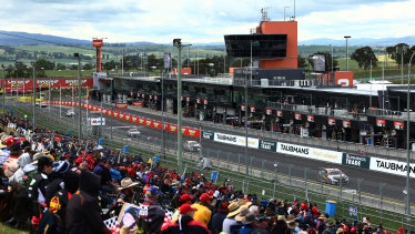 A general view of the Bathurst 1000 event on Sunday, October 18.
