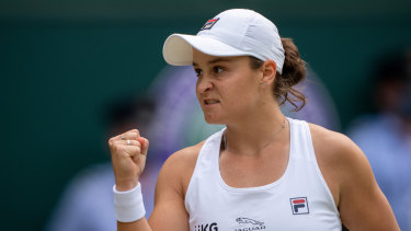 Ashleigh Barty after her semi-finals victory over Angelique Kerber this week.