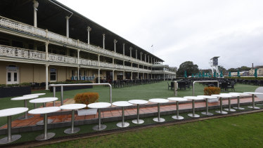 Rosehill will not host the Missile Stakes but trainers will be allowed access staff to prepare for the race, now to be held at Randwick.