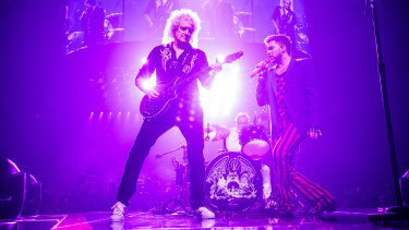 Queen + Adam Lambert, returning to Australian stages in 2020 with the Rhapsody tour.