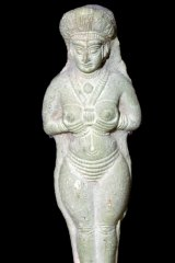 Babylonian terracotta statuette of Astarte from the Louvre.