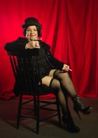 Joy Monssen, 90, dressed as Sally Bowles in the movie Cabaret.