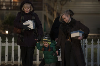 Australian actor Angourie Rice, right, plays Mare's daughter Siobhan, and Jean Smart plays her mother Helen.