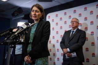 NSW Premier Gladys Berejiklian and Health Minister Brad Hazzard today.