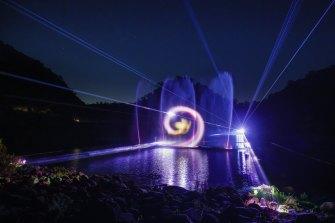 Aqua Luma lights up Cataract Gorge.