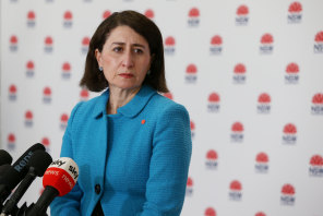 Gladys Berejiklian updates NSW on the COVID-19 situation on Sunday.