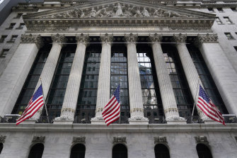 The New York Stock Exchange. US President Joe Biden is expected to propose doubling the tax rate that the highest-earning Americans pay on profits made from stocks and other investments.