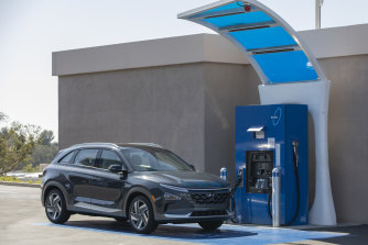 Hyundai's Nexo is the first hydrogen-fuelled vehicle to be certified by the Australian government for use on the road. The federal government is sinking more money into the developing hydrogen industry.