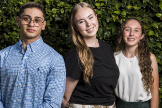 Christyon Hayek, Isabel Binnekamp and Lindsay McNeil all received ATARs in the high 99s after studying the IB in 2019.