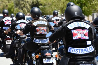 Bikie club colours would be banned under the proposed laws.