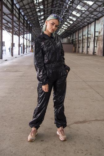 Nicole Millar at Mercedes-Benz Fashion Week Australia.