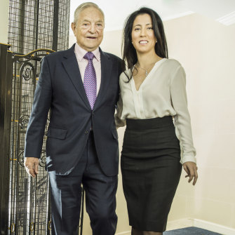 Soros with his third wife, Tamiko Bolton.