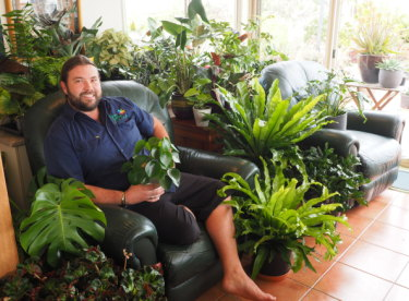 Passionate plantsman Jeremy Critchleygrows more than 400 plants for indoors.