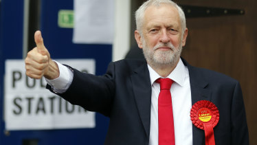 Britain's Labour party leader Jeremy Corbyn during general election in London in June.