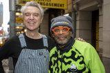 David Byrne, left, and Spike Lee
