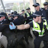 Legal observers find police 'set tone of violence' at anti-mining protests