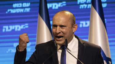 Right-wing politician Naftali Bennett is taking over as prime minister.
