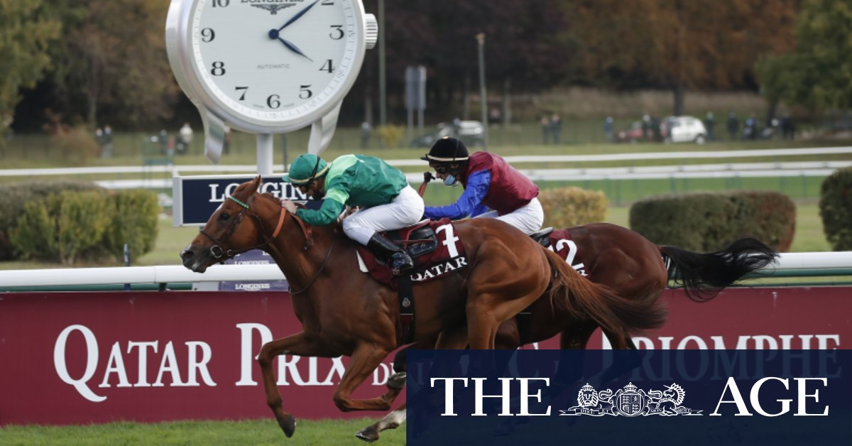 Dettori denied as Enable gets stuck in mud in bid for historic third Arc win
