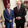 Indonesian President Joko Widodo and his wife Iriana met on Sunday with Australian Prime Minister Scott Morrison and his wife Jenny at Merdeka Palace in Jakarta.