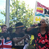 Noongar elder Mingli McGlade at the Invasion Day rally in Perth.