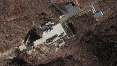 Satellite imagery showing new activity at a North Korean rocket launch site has raised doubt that Kim Jong-un will ever give up his nuclear weapons.