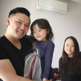 TikTok sensation Ricky Chainz with partner Mari and daughter Sarah at home in Sydney.
