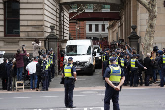 George Pell was taken back to prison in a white van after losing his appeal.