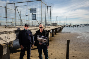 John Barton (left) and Graham White from the Hampton Swing Mooring Association are pleading with the government to repair Hampton pier.