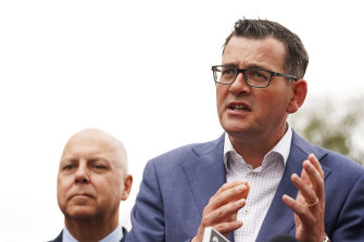 Premier Daniel Andrews and Treasurer Tim Pallas, left, were the architects of Project 10,000.