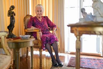 Olga Horak, a 94-year-old Holocaust survivor.