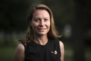 Army veteran, Sarah Watson, in Yass, She wants to raise awareness about the prevalence of mental illness in veterans.