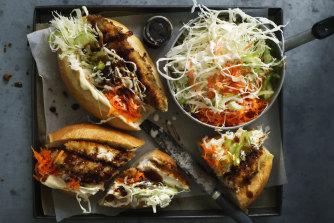 Chicken katsu rolls.