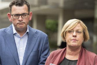 Police Minister Lisa Neville and Victorian Premier Daniel Andrews.