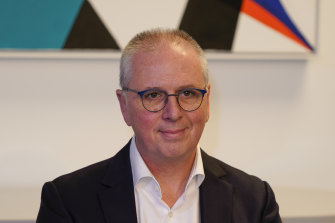 Kmart Group managing director Ian Bailey is eyeing more online growth for Target,
