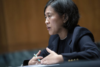 """US trade representative Katherine Tai said """"extraordinary times"""" called for extraordinary measures to tackle the pandemic."""