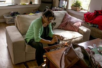"""""""If people want to meet with me, they can come here"""": Rashida Tlaib at home in Detroit."""