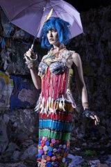 Fashion artwork White Trash created by Marina DeBris and modelled by Kelli Kickham.