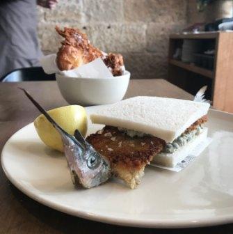 A garfish sandwich, a typically inventive Niland creation.
