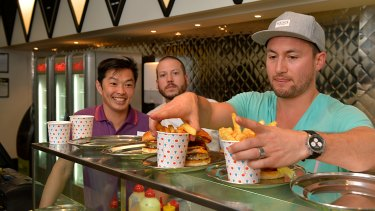 Dante Ruaine, Daniel Wilson and Jeff Wong started Huxtaburger.