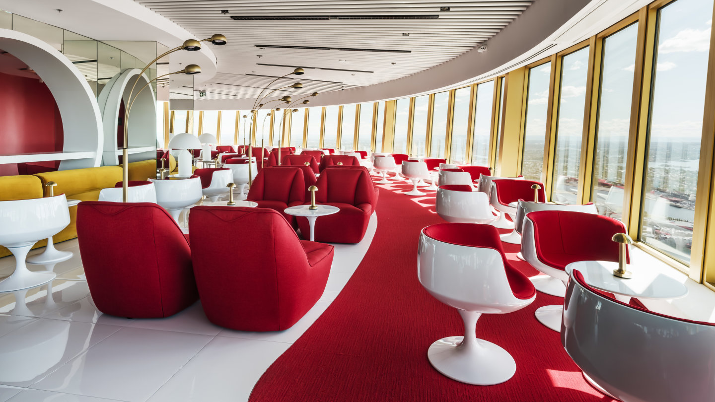 At the new-look Sydney Tower, modern touches are married to nostalgic nods.