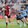 Rookie winger shines but Tahs outplayed by Crusaders in opener